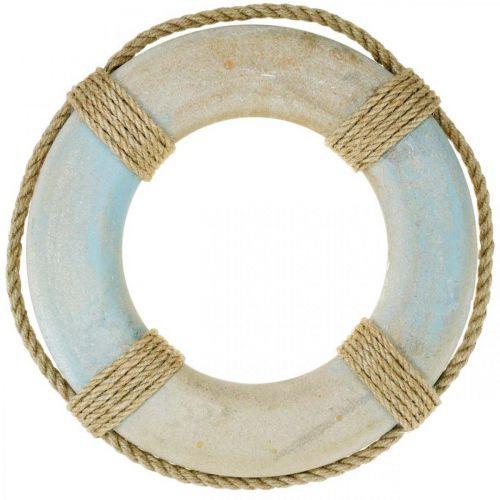 Wooden swim ring, maritime decoration, lifebuoy Ø31cm