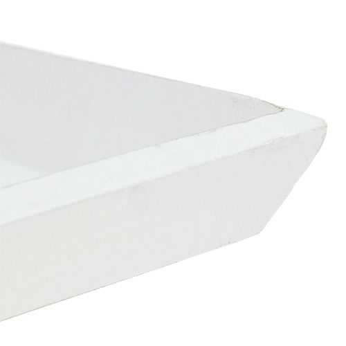 Wooden bowl 25cm x 25cm in white