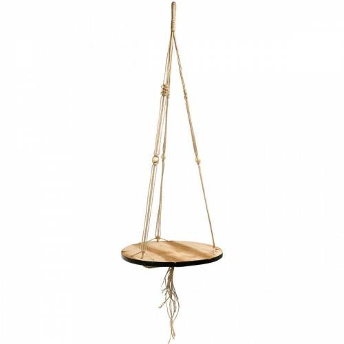 Plant swing, flower tray on a rope, hanging basket with macramé Ø34cm L84cm