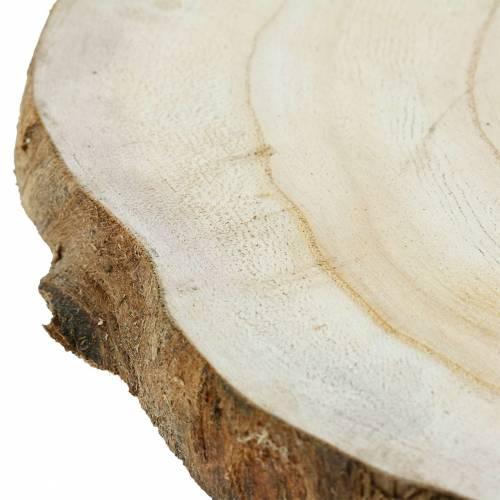 Wood disc natural Ø25-32cm