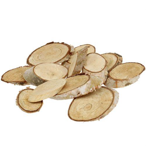 Wooden slices birch oval 5cm - 20cm 500g