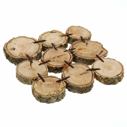 Decorative coaster, wooden slices, natural 22 × 22cm