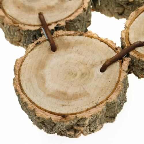 Decorative tray made of wooden slices, nature 37 × 22.5cm