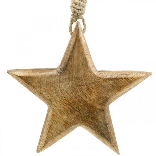 Decorative star, wooden pendants, Christmas decorations 14cm × 14cm