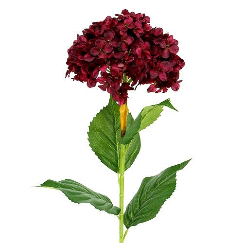 Artificial hydrangea dark red 80cm 1p