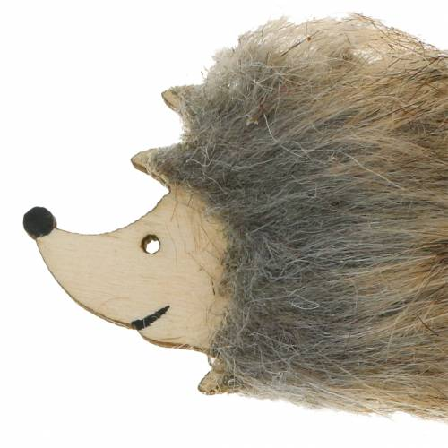 Autumn decoration hedgehog with fur 7cm 24pcs