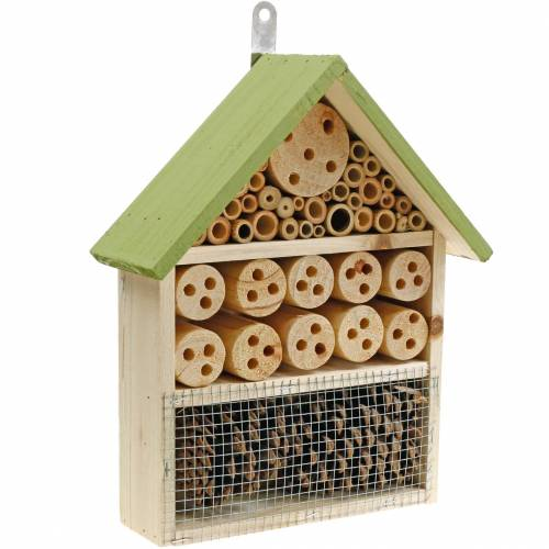 Insect hotel fir wood green 21cm H30cm