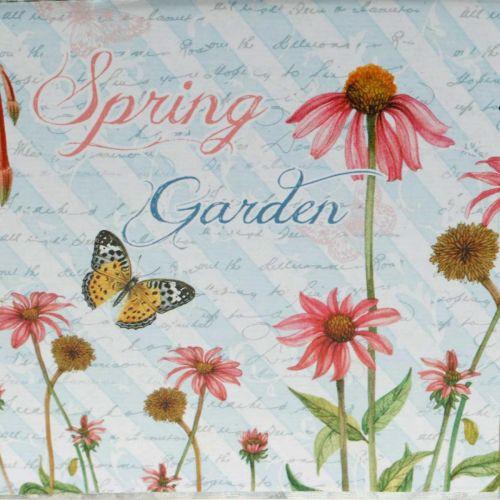Jardiniere planter with handles metal flowers spring decoration 23 × 14 × 11cm