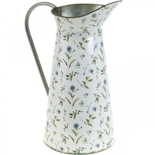 Decorative jug metal vintage flower vase garden decoration planter H33cm