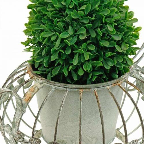 Planter, decorative coffee pot, metal pot for planting L15.5cm Ø11.8cm
