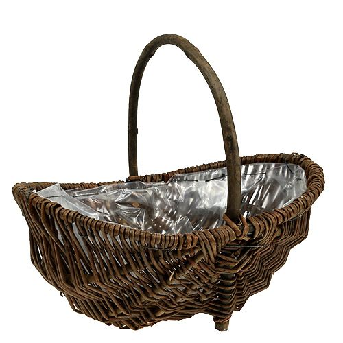 Potato basket 32cm with foil nature