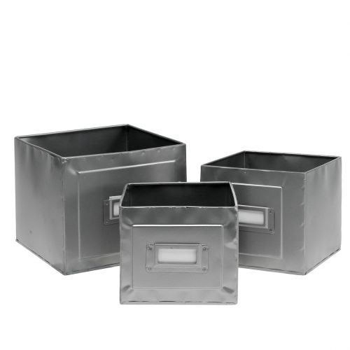 Planter with shield set of 3