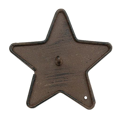Candle holder star to stick 9cm brown