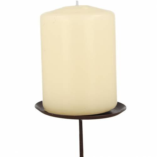 Candle holder brown Ø6cm 4pcs