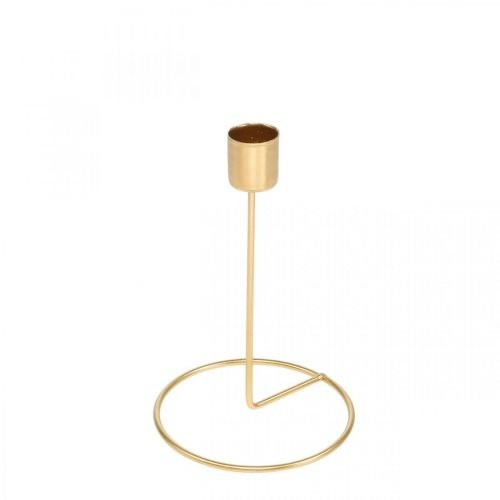 Candlestick gold table decoration metal for stick candle Ø10cm H15cm