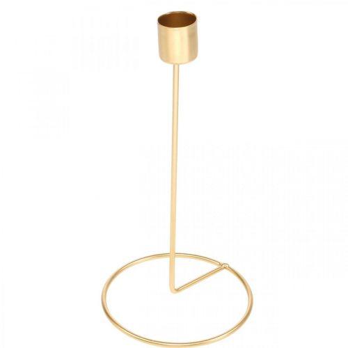 Candlestick gold metal decoration stick candle holder Ø10cm H20cm