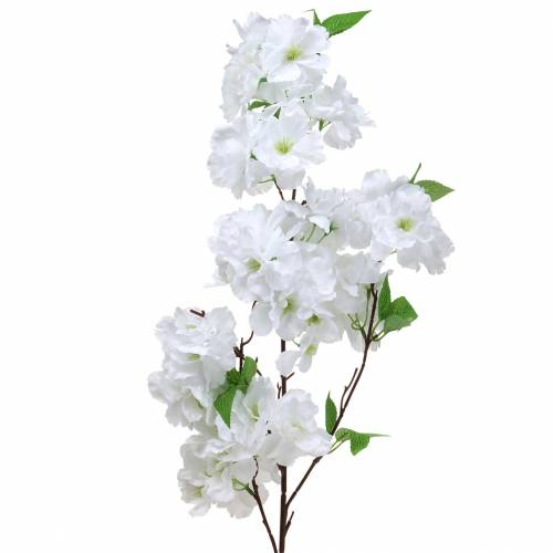 Cherry blossom branch white artificial 103 cm