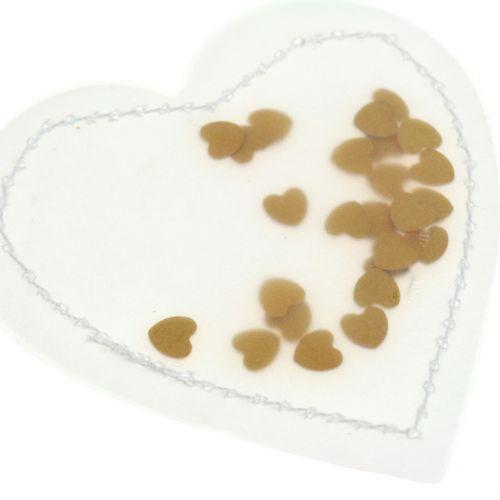 Confetti Heart Gold 5cm 24pcs
