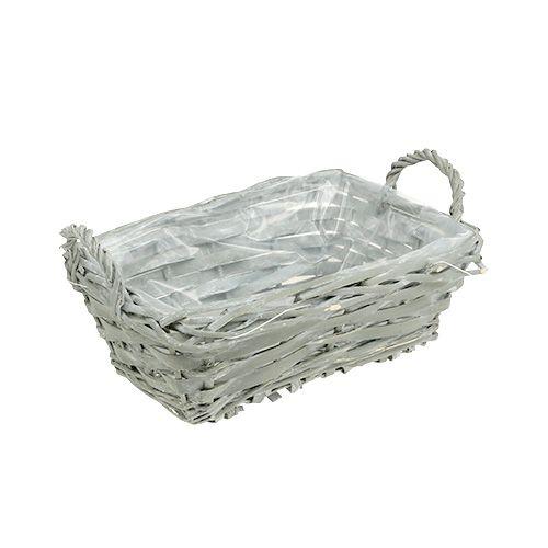 Basket angular gray 25cm x 18cm H10cm 1pc