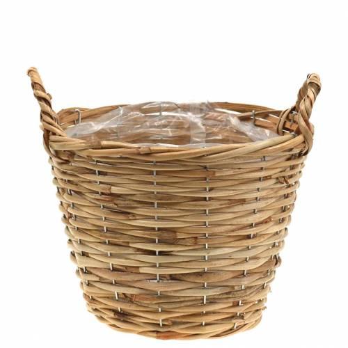 Basket wicker basket Ø25cm high 20cm flower basket for planting