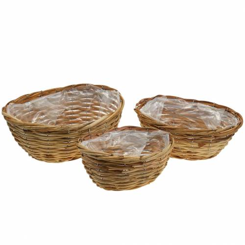 Basket flower basket x3 oval set with three sizes very stable