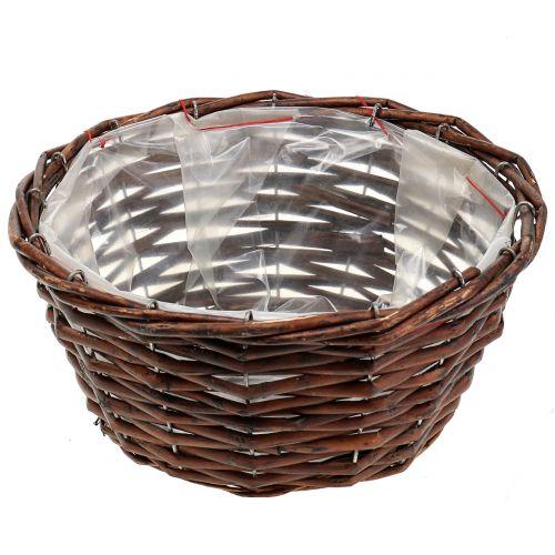 Basket Round for planting nature Ø25cm