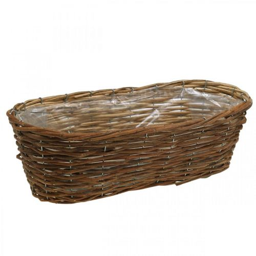 Plant basket, planter, basket bowl natural L46cm H14cm