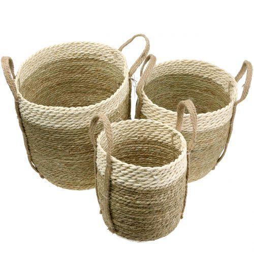 Sisal basket Ø37/30/25cm 3pcs