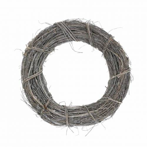 Decorative wreath willow Ø25cm, washed white