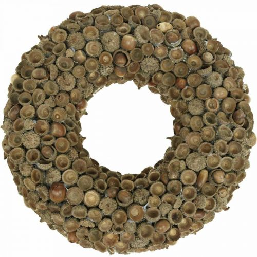 Autumn decoration wreath of acorns natural wreath Ø30cm