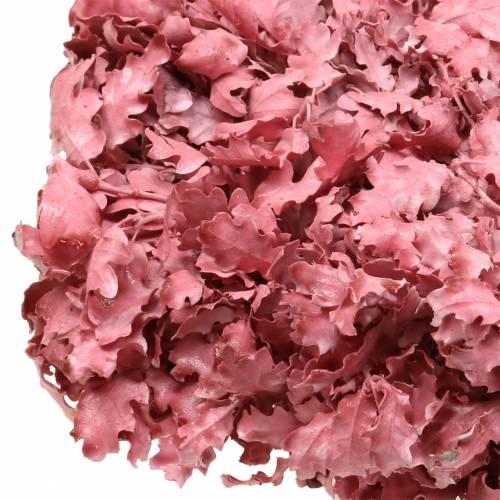 Wreath of oak leaves pink waxed Ø38cm