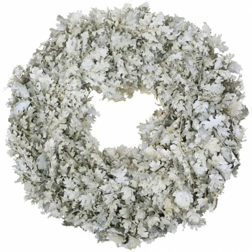 Wreath oak leaves white washed Ø38cm