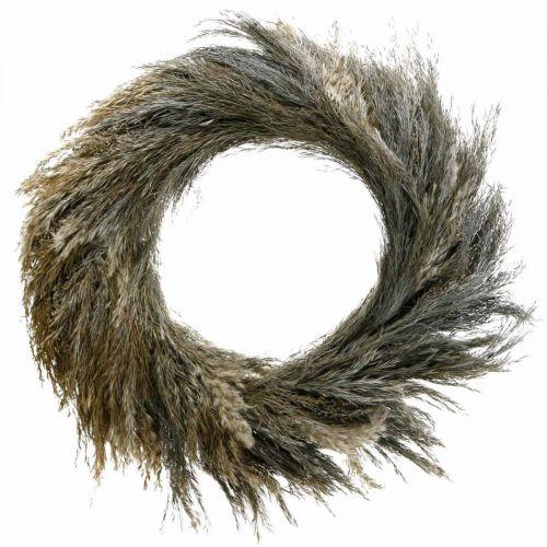 Decorative wreath dry grass and grain Ø55cm dry wreath