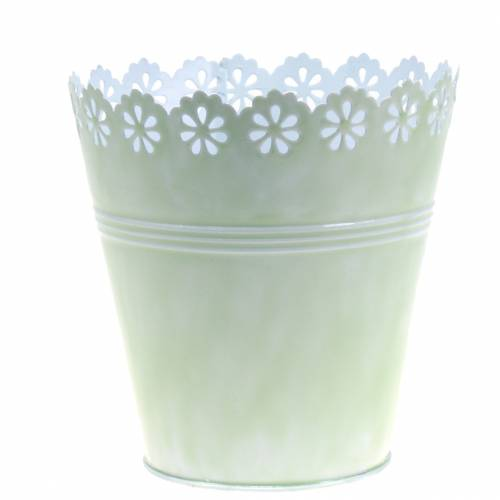 Flowerpot flower ornament light green Ø15cm H15cm