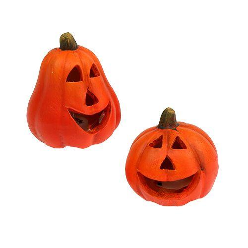 Pumpkin lantern Mix 6cm - 8cm with LED 6pcs