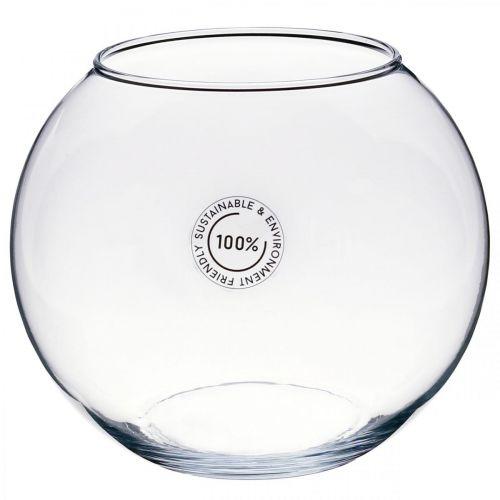 Ball vase, fishbowl, glass lantern, decorative glass Ø18.5cm H16cm