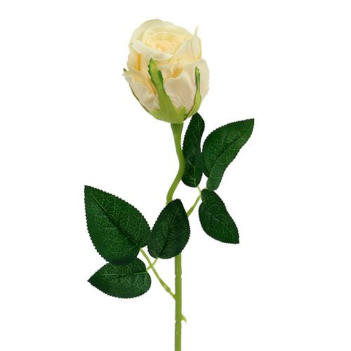 Artificial Flowers Rose Cream Ø6cm L50cm 6pcs