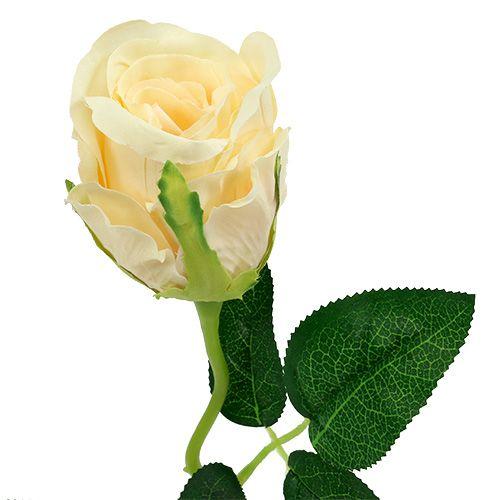Artificial Flowers Rose Cream Ø6cm L50cm 6pcs
