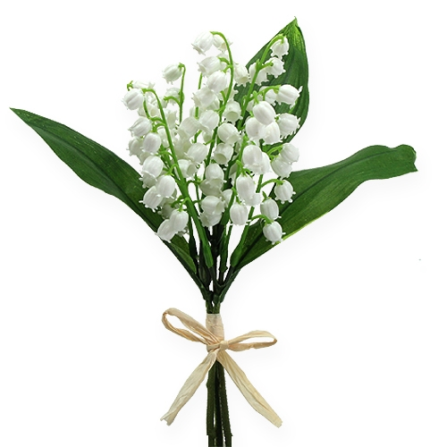 Artificial lily of the valley white 25cm 3pcs