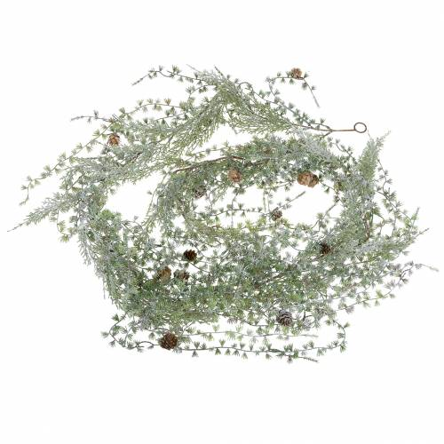 Larch garland green / iced with cones 180cm