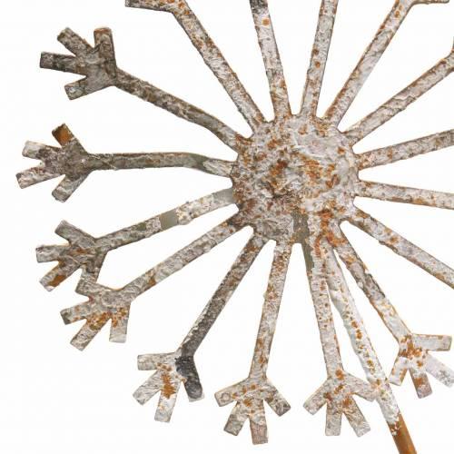 Garden plug dandelion rusty metal Ø13 / 15 H66cm