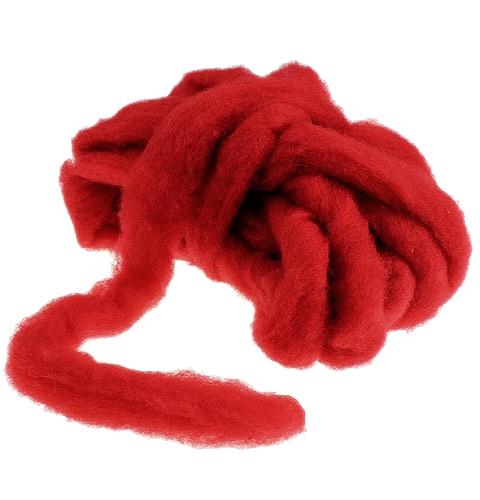 Wool fuse 10m dark red