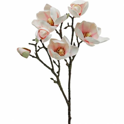 Magnolia branch pink artificial magnolia silk flowers