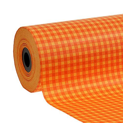 Cuff paper 25cm 100m Orange plaid
