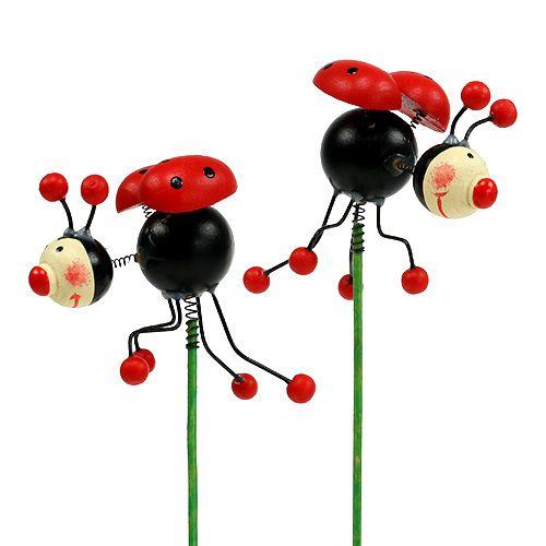 Ladybug on the rod 5cm 12pcs