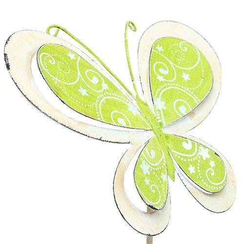 Metal plug butterfly green, pink 52cm 2pcs