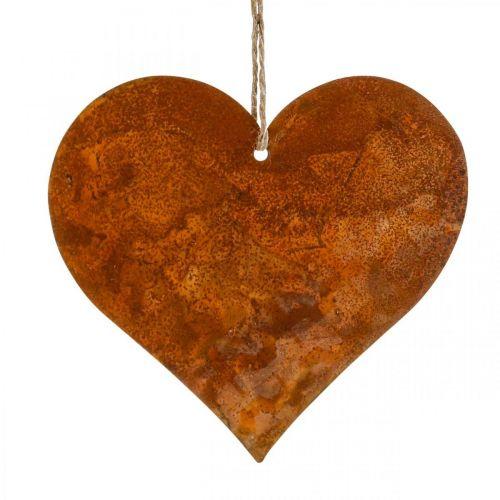Metal hearts, decorative pendants, rust decoration 19 × 20 cm 4pcs