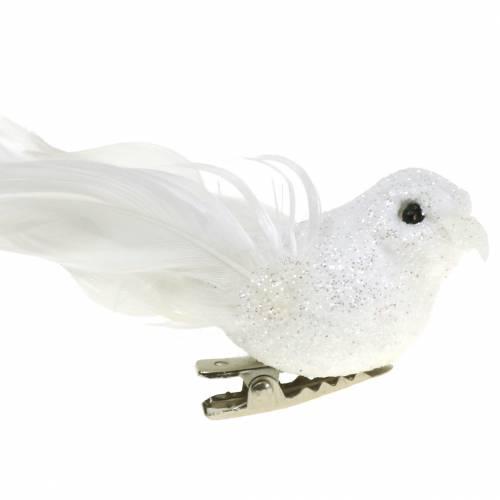 Mini pigeon on the clip 9cm 2pcs