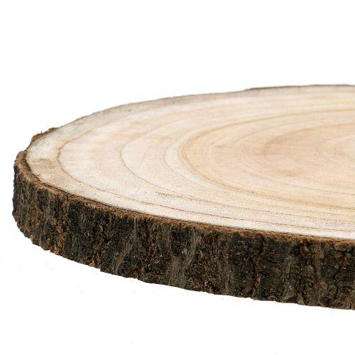 Tree slice blue bell tree natural Ø30-35cm 1p