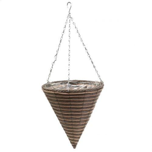 Basket lamp cone natural Ø30cm H36cm